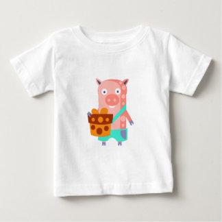 Camiseta De Bebé El cerdo con el fiesta atribuye enrrollado