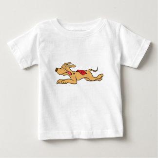 Camiseta De Bebé El competir con de perro del galgo del dibujo