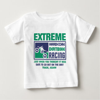 Camiseta De Bebé El competir con incondicional extremo de Dirtbike