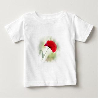 """Camiseta De Bebé ¡El delantal con la amapola roja """"sea feliz! """""""