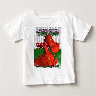 Camiseta De Bebé El día de St David, tarjeta Galés, Dydd Gwyl Dewi