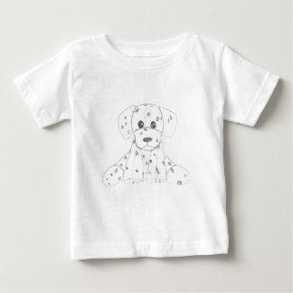 Camiseta De Bebé el doodle simple del perro embroma al dalmatian