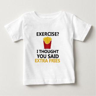 Camiseta De Bebé El EJERCICIO I pensó que usted dijo las fritadas