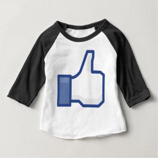 Camiseta De Bebé ¡el facebook TIENE GUSTO de mí de manosear con los