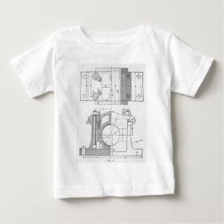 Camiseta De Bebé El gráfico del mecánico industrial del vintage