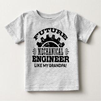 Camiseta De Bebé El ingeniero industrial futuro tiene gusto de mi