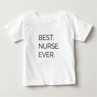 Camiseta De Bebé El mejor. Enfermera. Nunca