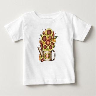 Camiseta De Bebé El país del amarillo del girasol del oro del otoño