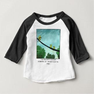 Camiseta De Bebé El pájaro cortó el cable