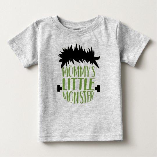 Camiseta De Bebé El pequeño monstruo Halloween de la mamá