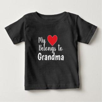 Camiseta De Bebé El PERSONALIZABLE mi corazón pertenece a usted
