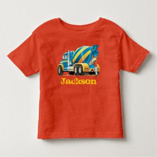 Camiseta De Bebé El personalizado embroma los camiones de la