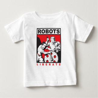 Camiseta De Bebé El robot le fija libre