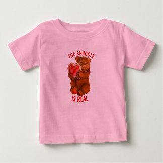 Camiseta De Bebé El Snuggle es oso real con el corazón