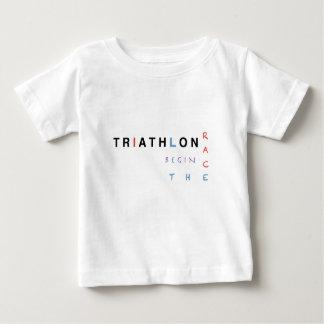 Camiseta De Bebé El Triathlon dejó la raza comenzar