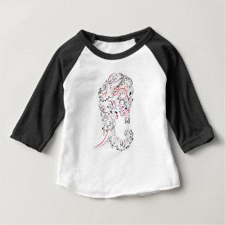 Camiseta De Bebé elefante adornado