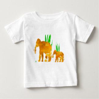Camiseta De Bebé Elefantes que marchan de Brown