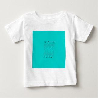 Camiseta De Bebé Elementos azules del diseño