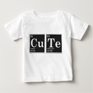 Camiseta De Bebé Elementos periódicos del CU TE