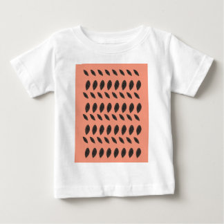 Camiseta De Bebé Elementos ROSADOS del diseño de las habas