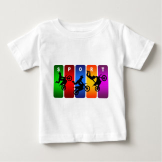 Camiseta De Bebé Emblema multicolor del motocrós