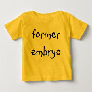 Camiseta De Bebé embrión anterior