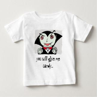 Camiseta De Bebé embrome a Drácula, usted me dará el caramelo…