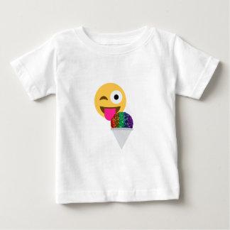 Camiseta De Bebé emoji del guiño del brillo