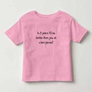 Camiseta De Bebé ¡En 5 años seré mejor que usted en los