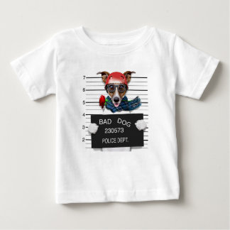 Camiseta De Bebé Enchufe divertido Russell, perro del Mugshot