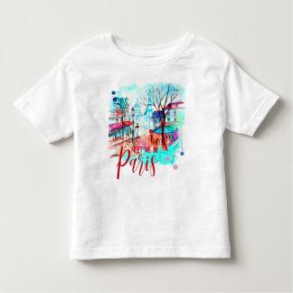 Camiseta De Bebé Encuéntreme en acuarela de la torre Eiffel de