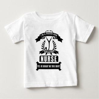 Camiseta De Bebé enfermera y papá