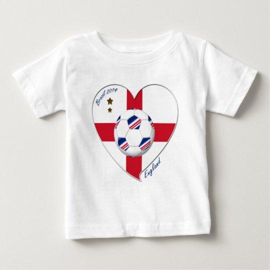 "Camiseta De Bebé ""ENGLAND"" Soccer Team. Fútbol de Inglaterra 2014"