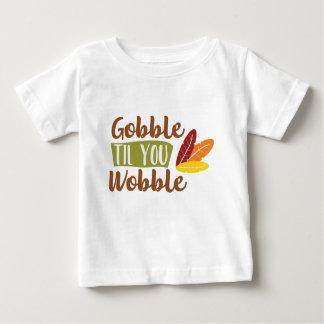 Camiseta De Bebé Engulla hasta que usted se tambalea