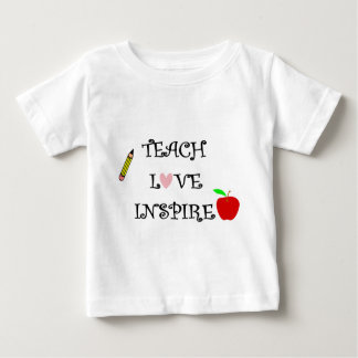 Camiseta De Bebé enseñe al amor inspiran