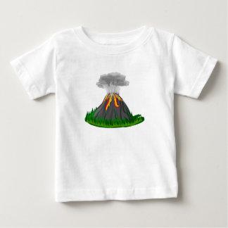 Camiseta De Bebé erupción y fuego del volcán