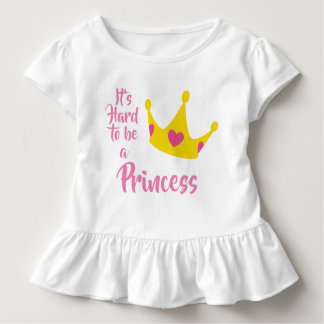 Camiseta De Bebé Es duro ser princesa Crown Hearts Queen