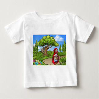 Camiseta De Bebé Escena del dibujo animado del Caperucita Rojo