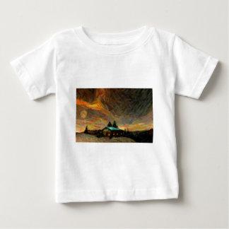 Camiseta De Bebé escena nórdica abstracta del invierno