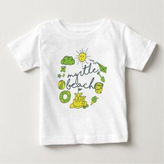 Camiseta De Bebé Escritura de Myrtle Beach
