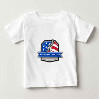 Camiseta De Bebé Escudo de la bandera de los E.E.U.U. de la llave