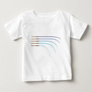 Camiseta De Bebé Espacios en blanco curvados vector doblado de la