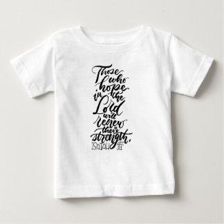 Camiseta De Bebé Esperanza en el señor Brush Script