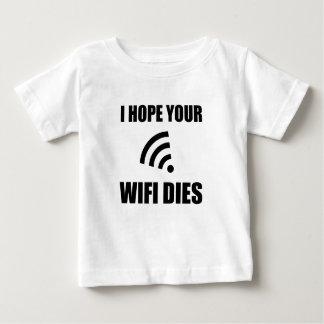 Camiseta De Bebé Espere sus dados de Wifi