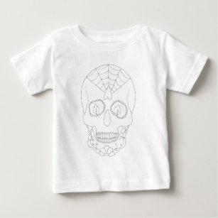 Camiseta De Bebé Esquema del cráneo del azúcar de