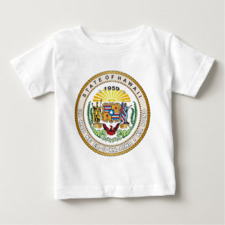 Camiseta De Bebé Estado del gran sello de Hawaii
