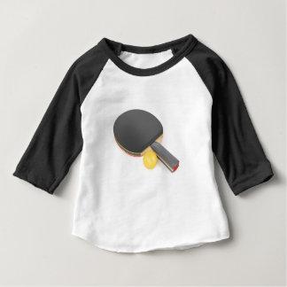 Camiseta De Bebé Estafa y bola de tenis de mesa