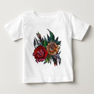 Camiseta De Bebé Estampado de flores vibrante de Matryoshka