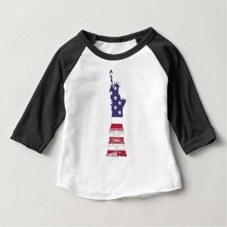 Camiseta De Bebé Estatua de la libertad blanca y azul roja