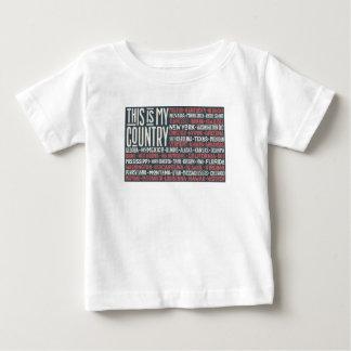 Camiseta De Bebé Éste es mi país